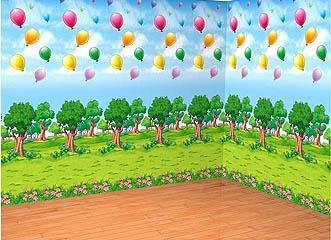 Winnie Puuh Landschaft  Wanddekoration