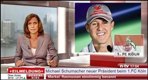 Eilmeldung : Michael Schumacher Präsident beim 1. FC Köln