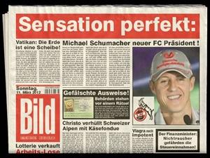 Bild : Neuer Präsident beim 1.FC Köln Formel 1 Fahrer Michael Schumacher