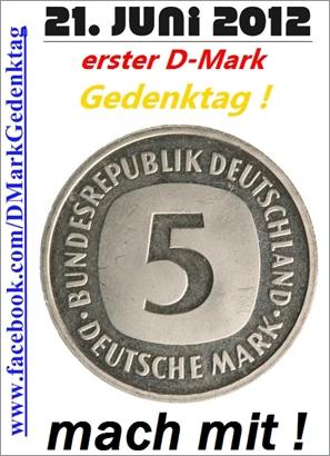 Gedenktag für die deutsche Mark