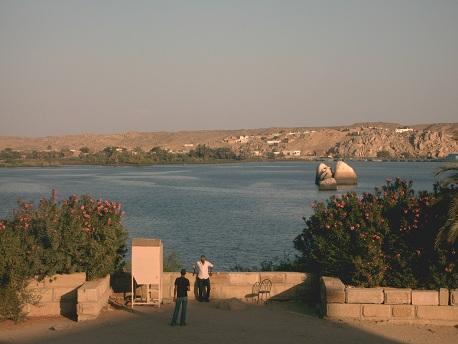 Blick vom Philae Tempel auf Agilkia
