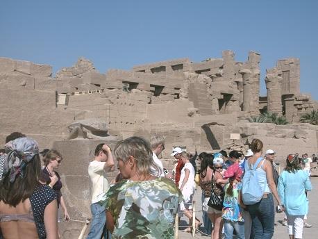 Skarabäus im Karnak-Tempel