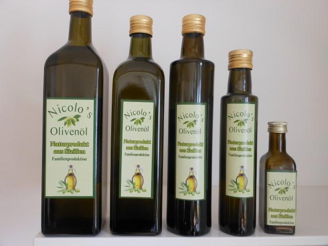 Olivenölflaschen